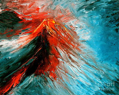 Volcano Goddess Painting - Pele's Fire by Mark Beach