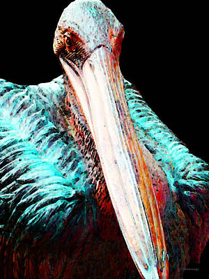 Painting - Pelican By Sharon Cummings by William Patrick