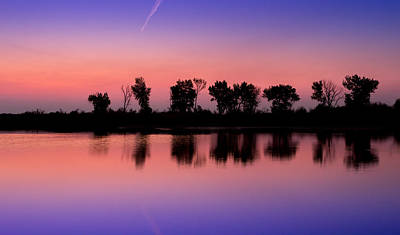 Photograph - Pelican Lake First Light by TL  Mair