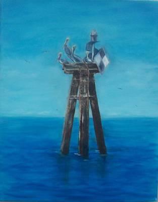Painting - Pelican Landing II by Linda Cabrera