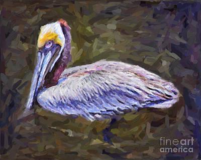 Painting - Pelican by Walt Foegelle