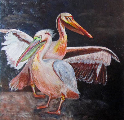 Painting - Pelican Pair by Susan Duxter