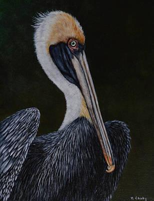 Pelican Posing Art Print