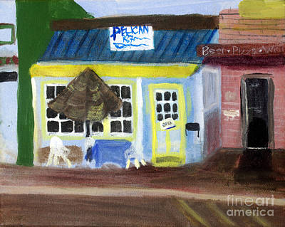 Remodernist Painting - Pelican Restaurant On Lake Ave In Lake Worth Florida by Donna Walsh