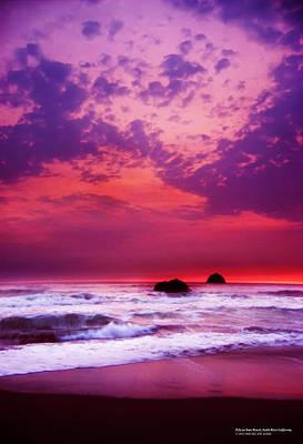 Pelican State Beach California 02 Art Print by Rafael Escalios