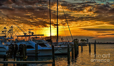 Photograph - Pelican Yacht Club Sunset by Olga Hamilton