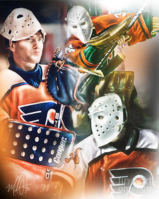 Nhl Painting - Pelle Lindbergh by Mike Oulton