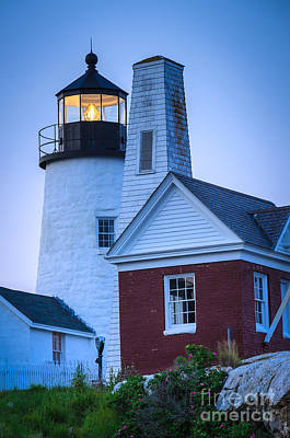 Photograph - Pemaquid Point Light Aglow by Tamara Becker