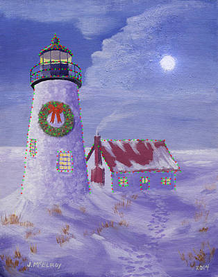 Pemaquid Christmas Art Print by Jerry McElroy