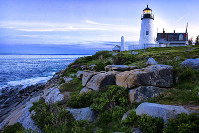 Joeseph Photograph - Pemaquid Light At Sunset by Diana Powell