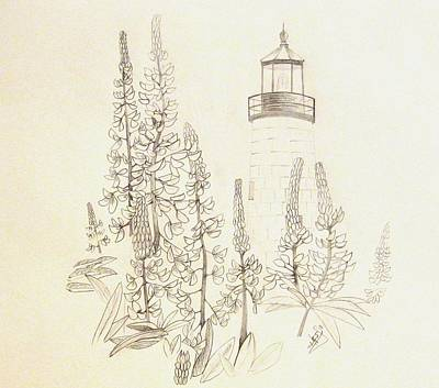 Pemaquid Lighthouse Print by Howard Elliott