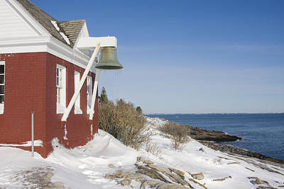 Photograph - Pemaquid Point Bell House On The Maine Coast by Keith Webber Jr