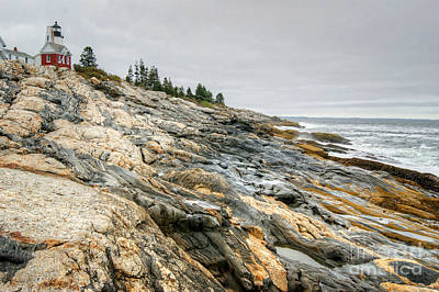 Photograph - Pemaquid Point Lighthouse by David Birchall