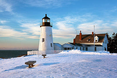 Pemaquid Lighthouse Photograph - Pemaquid Point Lighthouse by Eric Gendron