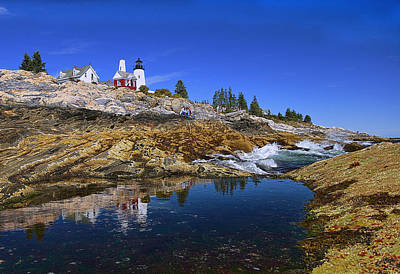 Beacon Photograph - Pemaquid Point Lighthouse by Marcia Colelli