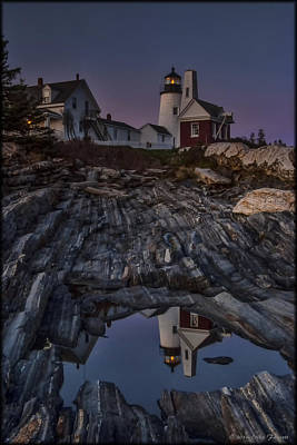 Photograph - Pemaquid Point Reflection by Erika Fawcett