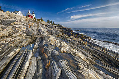 Pemaquid Point Scenic Maine Art Print by George Oze