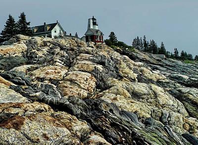 Pemaquid Rocks Original by Carolyn Fletcher