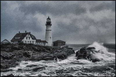 Photograph - Pemaquid Storm by Erika Fawcett