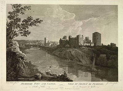 Cymru Photograph - Pembroke Town And Castle by British Library