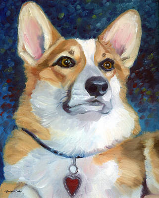 K9 Painting - Pembroke Welsh Corgi by Lyn Cook