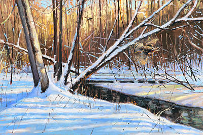 Painting - Peme Bon Won River Fly By by Larry Seiler