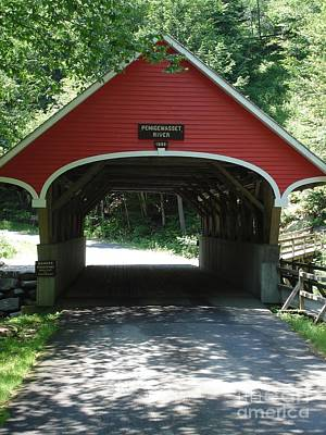 Photograph - Pemigewasset River Bridge by Kerri Mortenson