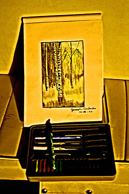 Photograph - Pen And Pastel by Joseph Coulombe