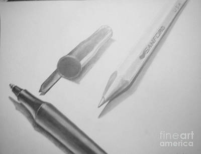 Drawing - Pen And Pencil by Tamir Barkan