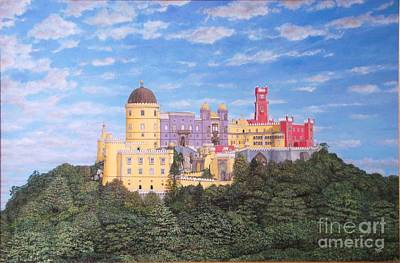 Pena Palace Sintra - Palacio De Pena Sintra Print by Carlos De Vasconcelos Tavares