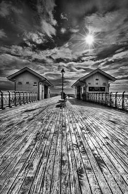 Penarth Pier 2 Monochrome Art Print