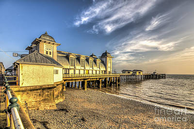 Photograph - Penarth Pier Dawn 2 by Steve Purnell