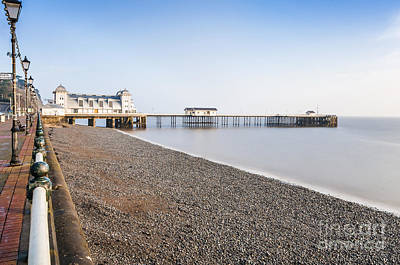 Photograph - Penarth Pier Long Exposure 1 by Steve Purnell