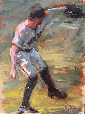 Hunter Pence Painting - Pence In Right by Darren Kerr