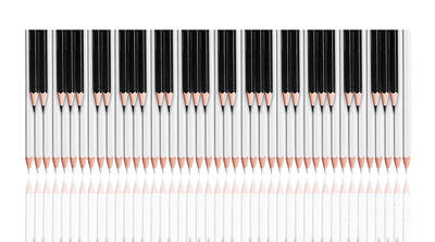 Conformity Digital Art - Pencil Keyboard by Kitty Bitty