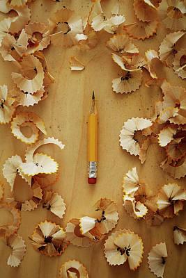 Pencil Sharpened Down To A Stub Art Print by Joseph Clark