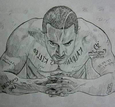 Pencil Sketch Amir Khan Art Print by Purushotama Anil Kumar