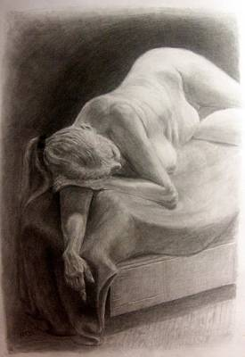 Drawing - Pencil Study by Nicolas Bouteneff