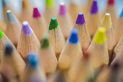Photograph - Pencils Colored In Macro by David Haskett II