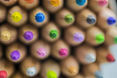 Photograph - Pencils Colored Macro 3 by David Haskett II