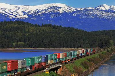 Photograph - Pend Oreille Freight by Benjamin Yeager