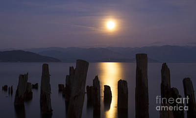 Photograph - Pend Oreille Moon by Idaho Scenic Images Linda Lantzy