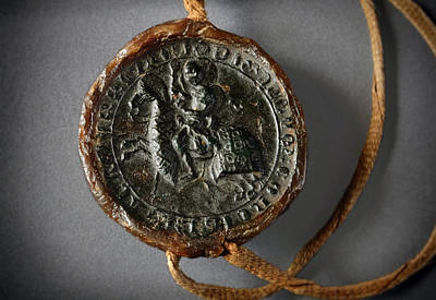Photograph - Pendent Wax Seal Of The Council Of Calahorra by RicardMN Photography