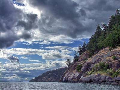 Photograph - Pender Island Bluffs by George Cousins