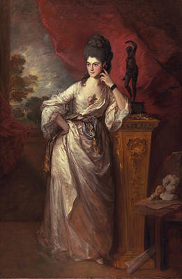 Gown Painting - Penelope , Viscountess Ligonier, 1770 by Thomas Gainsborough