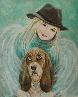 Painting - Penelope And Charlie Little Angel Of Faith And Loyalty by The Art With A Heart By Charlotte Phillips