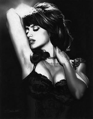Penelope Wall Art - Drawing - Penelope Cruz by Justin Clark