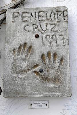 Penelope Cruz Photograph - Penelope Cruz Hand Prints Left by Nano Calvo