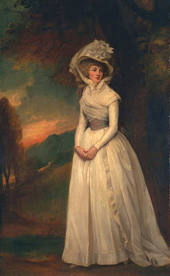 Evening Dress Painting - Penelope Lee Acton, 1791 by George Romney