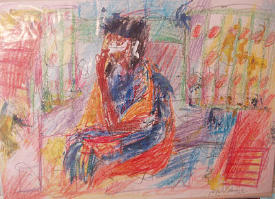 Drawing - Penelope Pensive by Esther Newman-Cohen